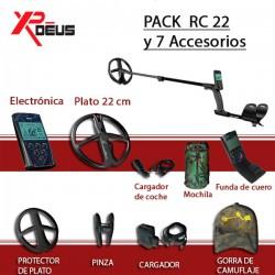 Detector de metales XP DEUS RC PLATO 22 CM